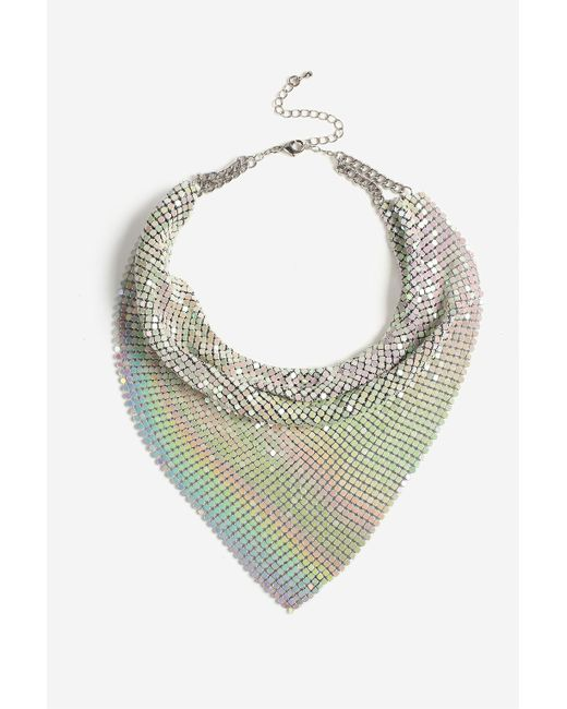 TOPSHOP | White Chainmail Scarf Necklace | Lyst