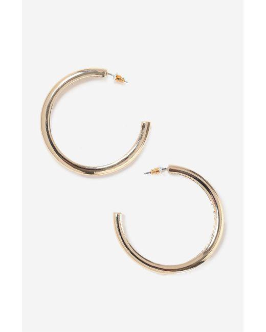 TOPSHOP | Metallic Smooth Thick Hoop Earrings | Lyst
