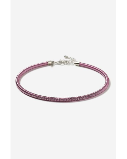 TOPSHOP   Purple Fabric Wrapped Torque Choker Necklace   Lyst
