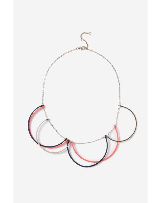 TOPSHOP | Blue Crescent Necklace | Lyst