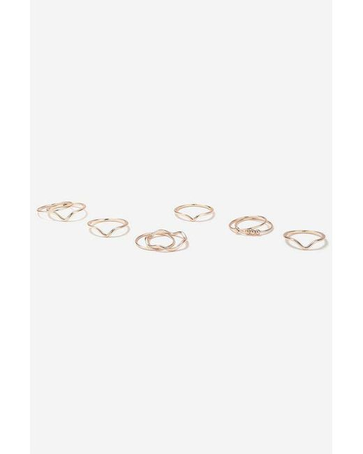 TOPSHOP - Metallic clean Multiband Ring Pack - Lyst