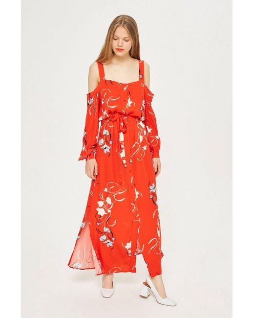 Y.A.S - Orange Floral Maxi Dress By - Lyst