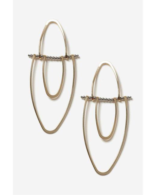 TOPSHOP | Metallic Split Oval Drop Earrings | Lyst