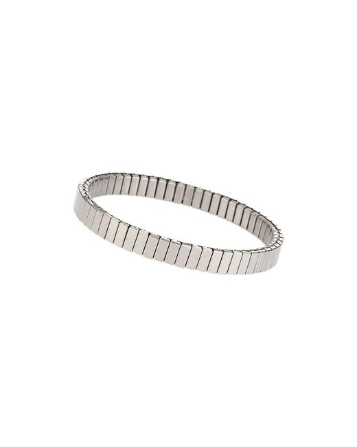 TOPSHOP - Metallic silver Ridge Stretch Bracelet - Lyst
