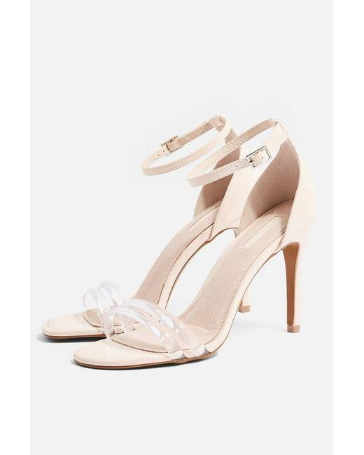 TOPSHOP - White Reta Two Part Sandals - Lyst