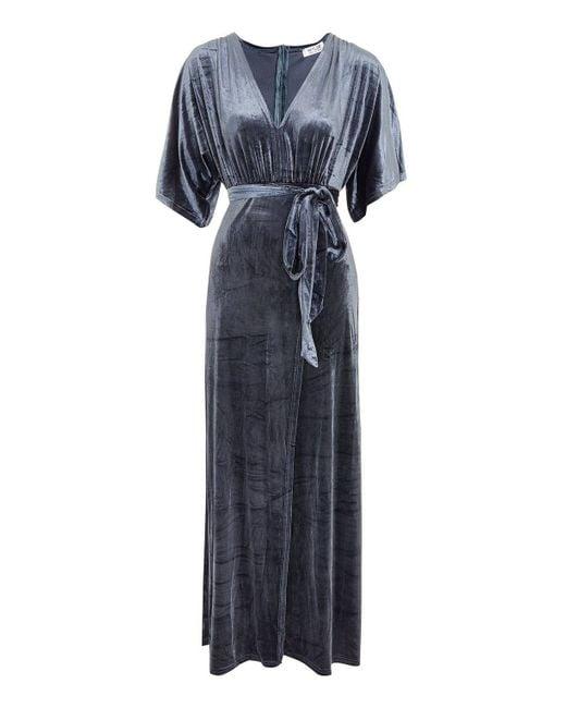 Wyldr - Metallic Desert Moon Velvet Maxi Dress By - Lyst