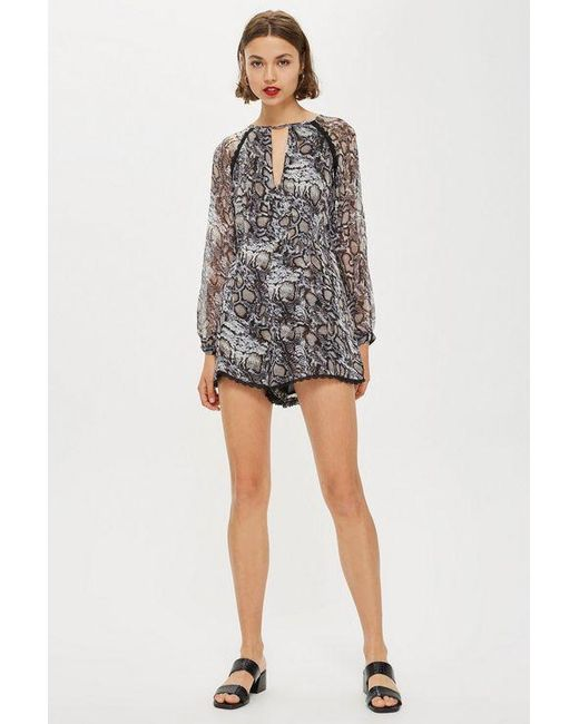 99452ccc41e Wyldr - Multicolor tahoe- Snake Charmer Printed Playsuit By - Lyst ...