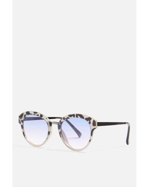 TOPSHOP - Multicolor Lara Preppy Round Sunglasses - Lyst