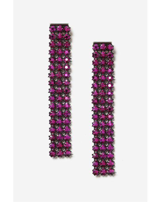 TOPSHOP | Pink Rhinestone Drop Earrings | Lyst