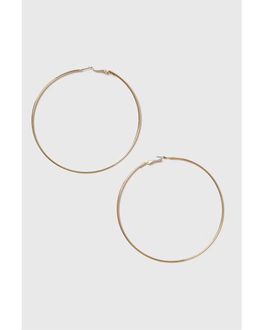 TOPSHOP - Metallic Gold Large Hoop Earrings - Lyst