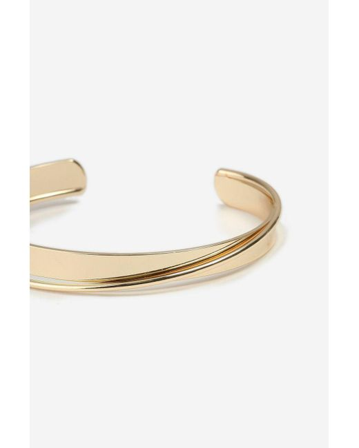 TOPSHOP - Metallic Curved Bangle - Lyst