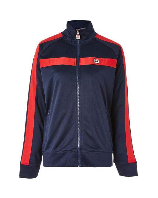 Fila | Blue Funnel Neck Tracksuit Jacket By Fila | Lyst