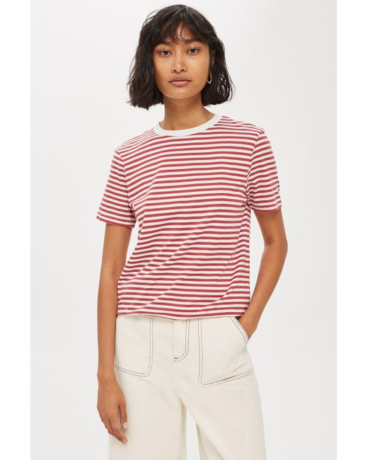 TOPSHOP - Multicolor Perfect Stripe T-shirt By Selected Femme - Lyst
