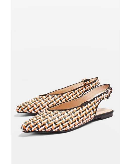 TOPSHOP - Multicolor Apple Woven Pointed Shoes - Lyst