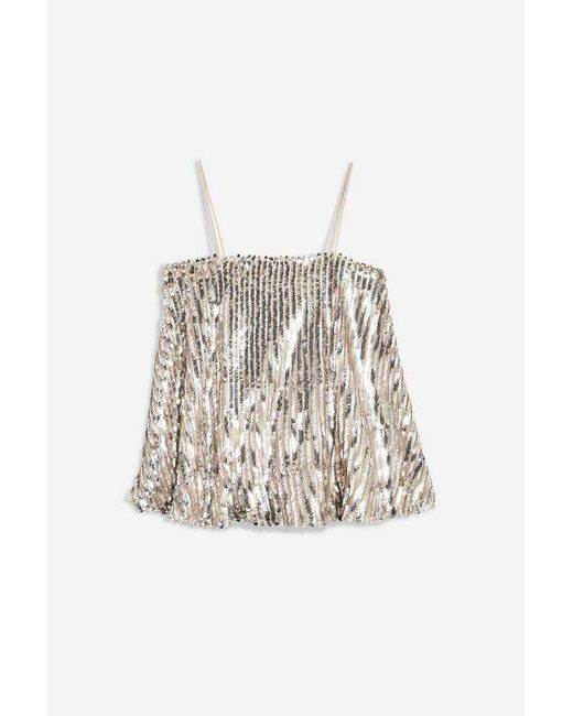 Club L - Metallic embellished Sequin Cami By - Lyst