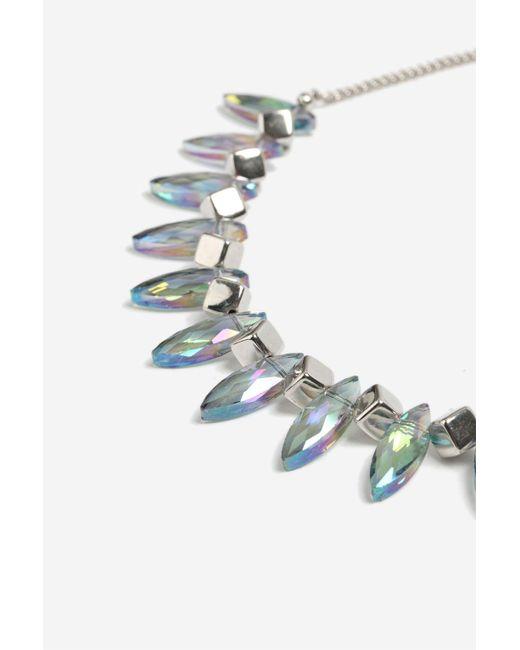 TOPSHOP | Multicolor Mixed Facet Collar Necklace | Lyst
