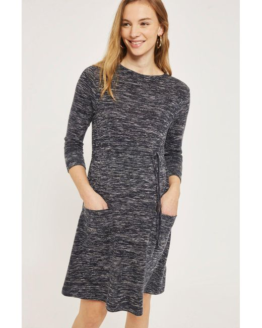 TOPSHOP | Gray Maternity Drawstring Pocket Skater Dress | Lyst