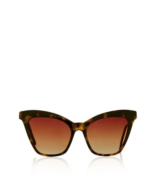 TOPSHOP - Brown Vintage Oval Shaped Sunglasses - Lyst