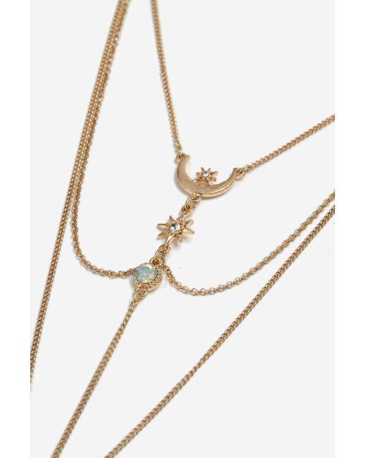 TOPSHOP | Metallic Star Tassel Ladder Necklace | Lyst