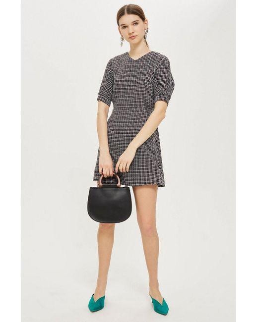 TOPSHOP - Multicolor Textured Seam Mini Dress - Lyst