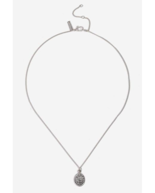TOPSHOP - Metallic Sovereign Ditsy Necklace - Lyst