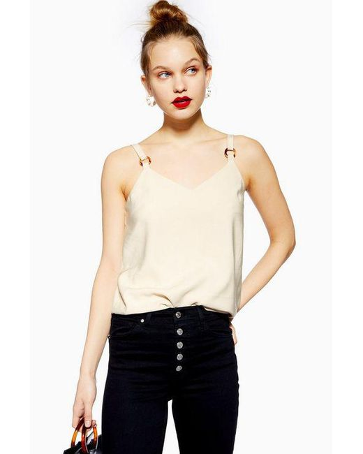 ca870abfac6fdf TOPSHOP - Natural Ring Camisole Top - Lyst ...