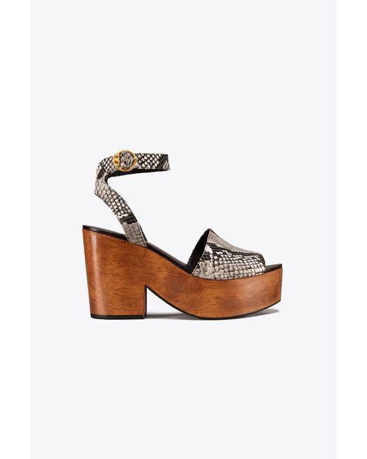 Tory Burch - Multicolor Camilla Embossed Sandal - Lyst