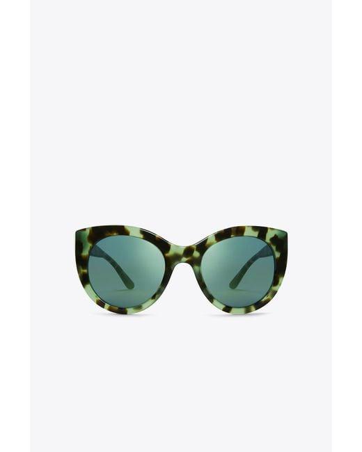 Tory Burch - Green Retro Cat-eye Sunglasses - Lyst