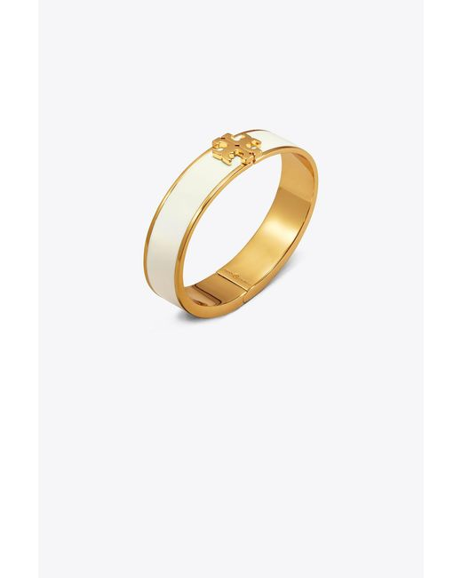Tory Burch - Metallic Enameled Raised Logo Bracelet - Lyst