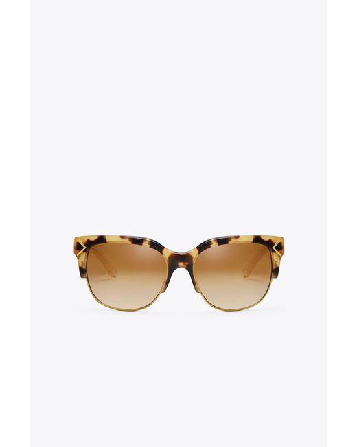 Tory Burch - Multicolor Half-rim Sunglasses - Lyst