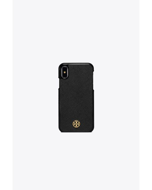 Tory Burch - Black Robinson Hardshell Case For Iphone X - Lyst