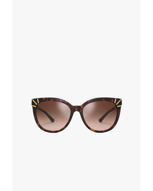 Tory Burch | Brown Graphic Square Sunglasses | Lyst