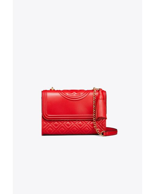 Tory Burch - Red Fleming Convertible Shoulder Bag - Lyst