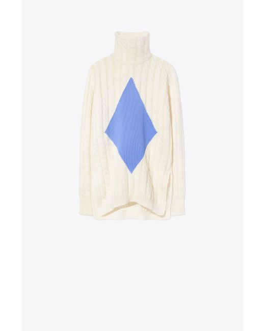 Tory Burch - White Nel Turtleneck Sweater - Lyst