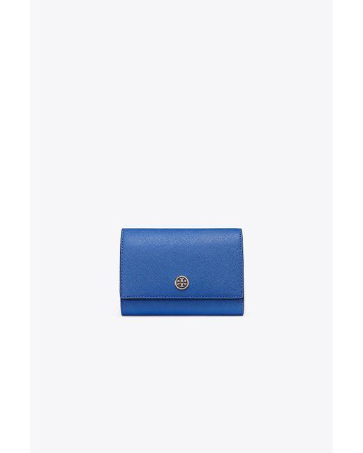 Tory Burch - Blue Robinson Medium Wallet - Lyst