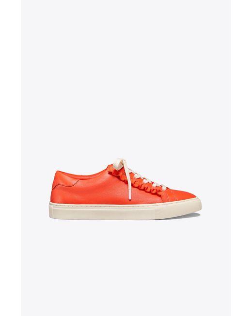 Tory Burch - Red Tory Sport Ruffle Sneaker - Lyst