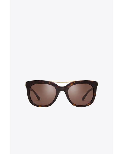 Tory Burch - Multicolor Bridge Square Sunglasses - Lyst