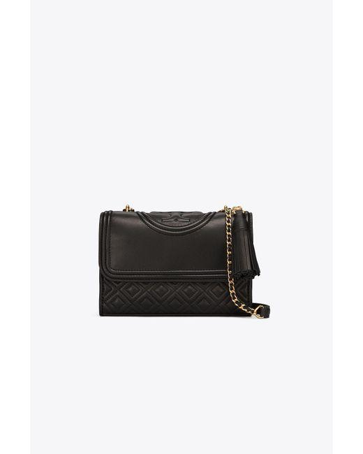 Tory Burch - Black Small Fleming Shoulder Bag - Lyst