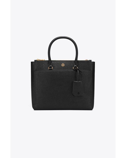 Tory Burch - Black Robinson Double-zip Tote - Lyst