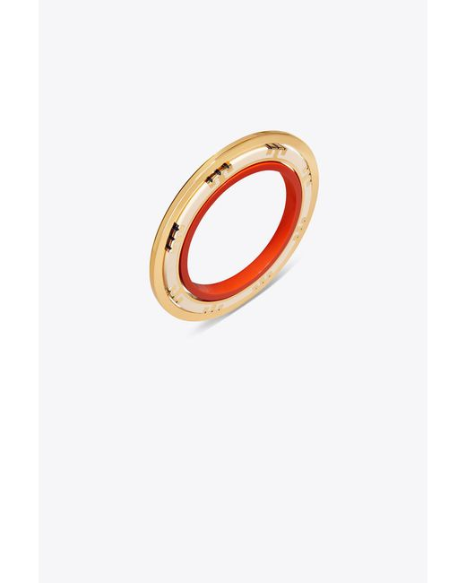 Tory Burch - Multicolor T-stripe Statement Bracelet - Lyst