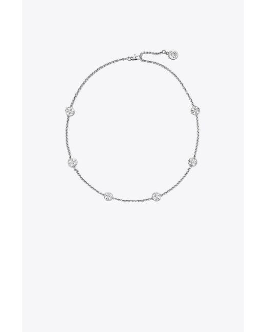 Tory Burch - Metallic Logo Necklace - Lyst