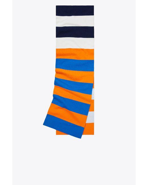 Tory Sport - Blue Tory Burch Merino Broad-stripe Scarf - Lyst