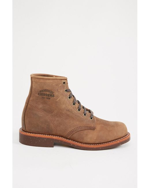 """Chippewa - Brown 6"""" Crazy Horse General Utility Service Boot for Men - Lyst"""
