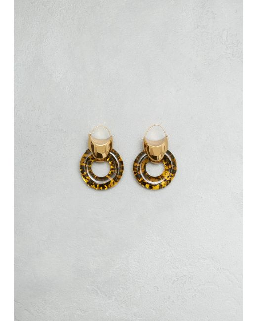 Ellery | Metallic Gold W Resin Tortoise Combo Hush Hoop | Lyst