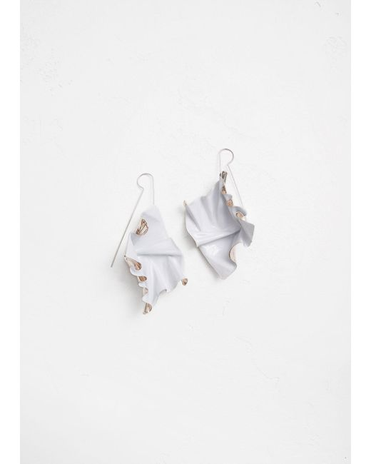 Closer by Wwake | White Painted Suspended Earrings | Lyst