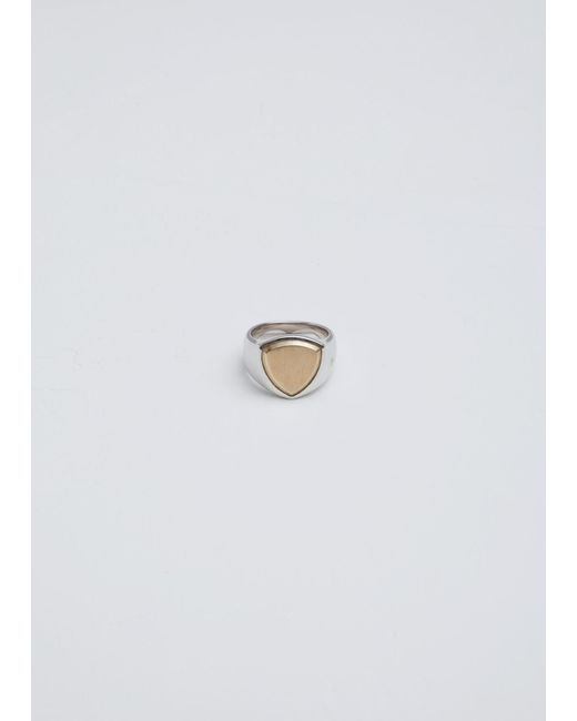 Tom Wood - Metallic Shield Gold Top Ring - Lyst