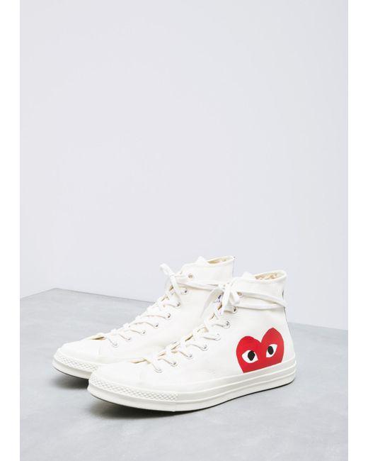 2307d8104e32 COMME DES GARÇONS PLAY - Natural Play Converse 70s Chuck Taylor High-top  Sneaker for ...