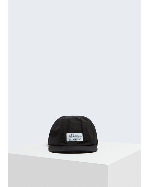 0f7634c148cab Off-White C O Virgil Abloh Five-panel Cap in Black for Men - Lyst
