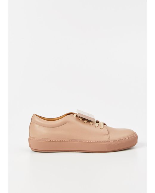 Acne | Pink Adriana Leather Sneakers | Lyst