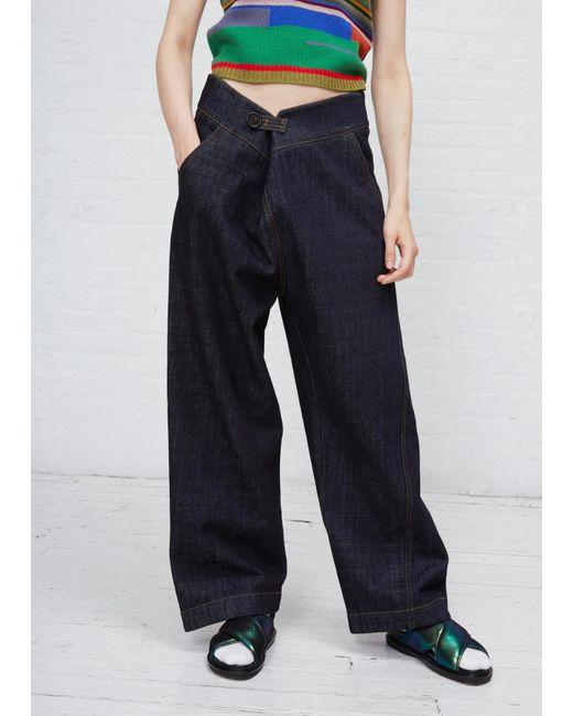 Marni | Blue Black Trouser | Lyst
